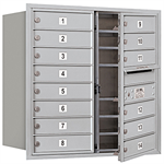 3700 Series Recessed Mounted 4C Horizontal Mailboxes - Front Loading - 8 Door High Units
