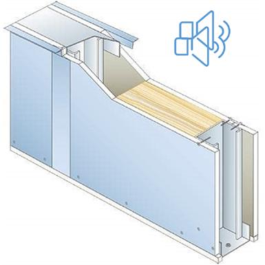 drywall pregymetal 72mm - ei30 - 43db - siniat