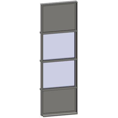 vertical strip windows - 4 zones