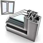 Dritare të dyfishtë UPVC-ALU INTERNORM KF310 5