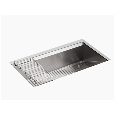 "8 degree™ 33"" x 18"" x 10"" under-mount large single-bowl kitchen sink"