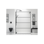 Shower Wall Black 120 cm