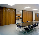 "Series 2100 Acoustical Partition, Vinyl-Lam up to 12' 1"", Hardwoods up to 10' 1"" Height, Custom Width"