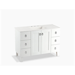 "poplin® 48"" bathroom vanity cabinet with legs, 2 doors and 6 drawers"