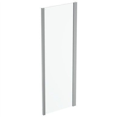 connect 2 side panel 75 clear glass bright silver finish