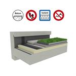 systèmes pour toiture terrasse végétalisée isolation béton