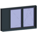 window with breathable leaf with adjacent fixed