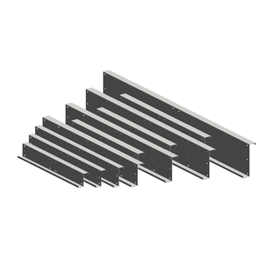 Structural framing - K profile fish-plate
