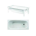 Bathtub with support frame - 1570x700