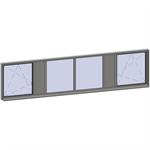 horizontal strip windows - 6 zones