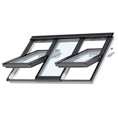 3in1 top-operated pinewood roof window - centre-pivot - ggls