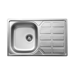 Soul 1-bowl sink with drainer 780x490x160