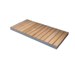 STEEL SHOWER TRAY WITH SOLID WOOD SLATS CONFIGURABLE STEEL OUT 90_ ON THE FLOOR  SHOWER