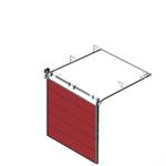 sectional overhead door 601 - standard lift - 40mm panels