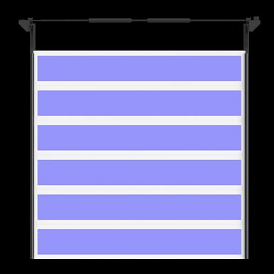 porte industrielle liné'r transparente levée normale et levée haute