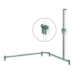 Cavere Shower handrail with shower head rail, movable, 1100x1100x1200, right