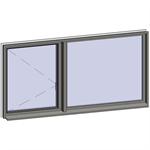 horizontal strip windows - 2 zones