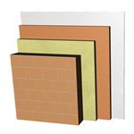 ME02-B2-bgf Double skin clay block party wall, with thermal insulation. BC19+AT+LHGF7+ENL