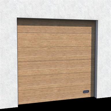 porte industrie veinée bois chêne doré levée normale et levée haute