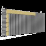 doppelte aussenfassade aus stahl verlegung v perforierte platten mit 2 dämmflächen