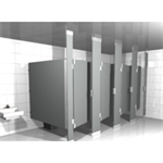 Solid Plastic Toilet Partition Floor to Ceiling