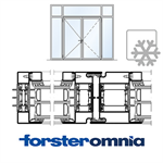 curtain wall door forster omnia double leaf