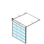 sectional overhead door 601 - standard lift - full vision panels