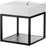Temisto top washbasin with hanging bathroom console 50x50