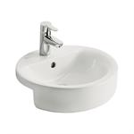 concept sphere 45cm semi-countertop washbasin, 1 taphole