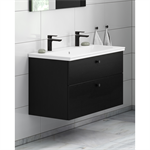 Bathroom Vanity unit Artic with two tap holes - 100 cm