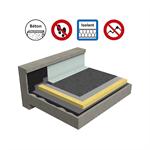Systèmes pour toitures inaccessibles autoprotégées avec isolation sur support béton