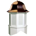 Bedford Series Louvered Cupola Is An Octagon With A Bell Style Roof