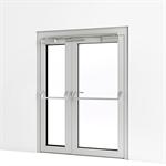 exterior double door w/ panic push bar