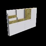 parete a secco con singola struttura metallica  (it)