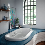 "Amma Oval 72"" x 42"" x 22"", Therapeutic Bath, Drop-in & Undermount"