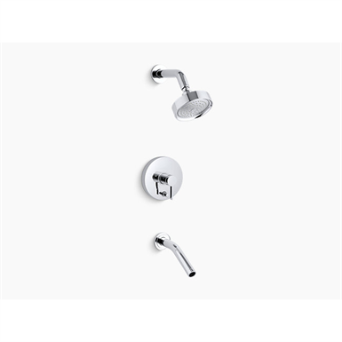 stillness® rite-temp® pressure-balancing bath and shower faucet trim with lever handle, valve not included