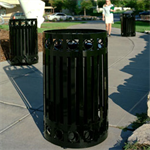 Halo Decorative Ring Trash Receptacles