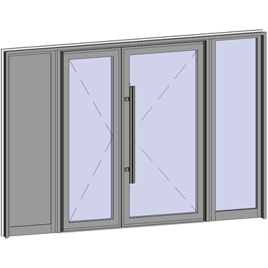 grand trafic doors - anti finger pinch version - double outward opening with 2 fixed