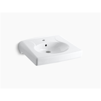 k-1997-1 brenham™ wall-mounted or concealed carrier arm mounted commercial bathroom sink with single faucet hole