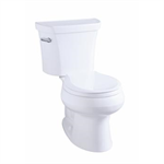 """k-3947-ur wellworth® round-front 1.28 gpf toilet, 14"""" rough-in, right-hand trip lever, insuliner®"""