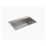 "prologue™ 33"" x 22"" x 9"" top-mount/undermount single-bowl kitchen sink"