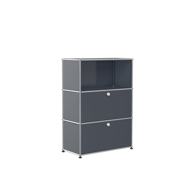 Storage with open display, customisable