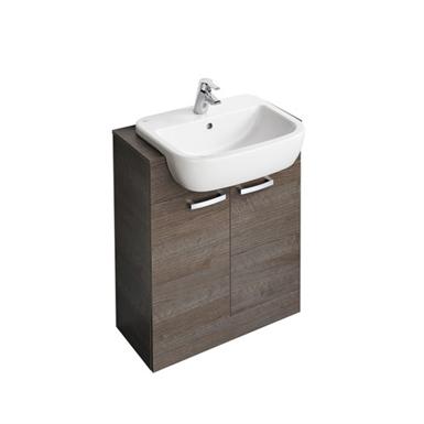 tempo 650 x 300mm semi countertop basin unit with 2 doors