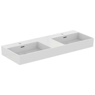 extra 120cm double washbasin with  1 tap hole per basin