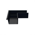 Outer gutter angle for rectangular gutter 140