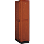 11000 Series Solid Oak Executive Wood Lockers Single Tier 1 Wide