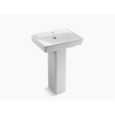 "rêve®23"" pedestal bathroom sink with single faucet hole"