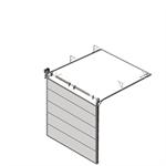 sectional overhead door 601 - standard lift - 80mm panels