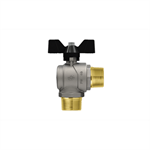 Progress M-M right angle ball valve with butterfly handle