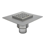 BFD-550 - Sanitary Floor Drain w/8in. x 8in. Square Top, Elastomeric Flange